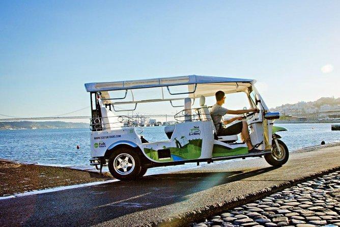 Excursão turística de meio dia em Lisboa de tuk tuk elétrico