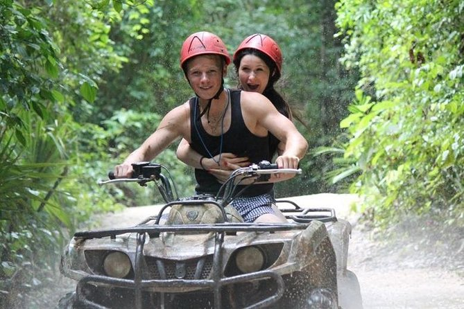 3 Activities in 1 ATV's,(shared) Cenote & Zipline from cancun