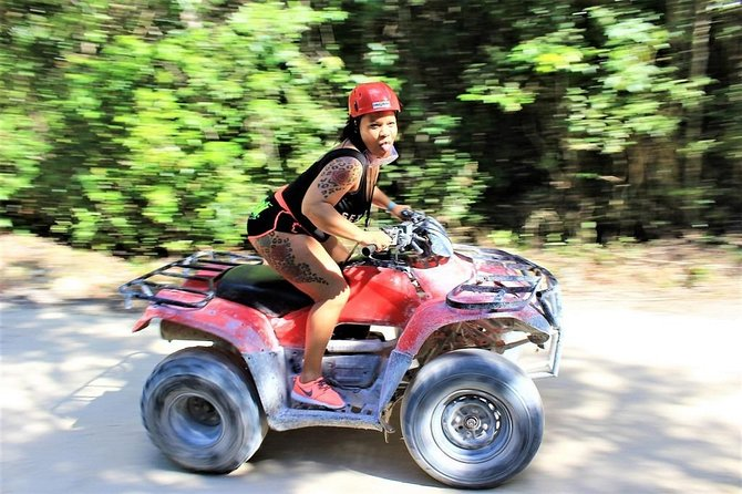 Combo 3 in 1 - ATV's, (Shared) Zipline & Cenote from Playa del Carmen
