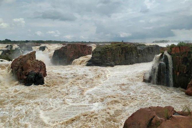 Raneh waterfall near Khajuraho (car)
