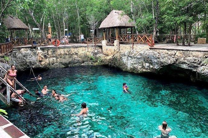 Wonderful Tulum Tour with Laguna Kaan Luum, 2 Cenotes and Playa Del Carmen
