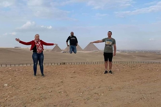 2 hours a camel ride at Sunrise by the Pyramids, then Cairo tour(all inclusive