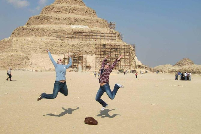 Day-Tour to Giza Pyramids, Memphis and Sakkara with Camel riding