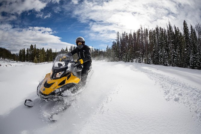 Snowmobile Tour in Russian forests and fields