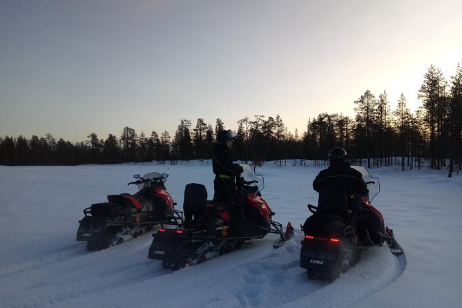 Private snowmobile and ice fishing excursion