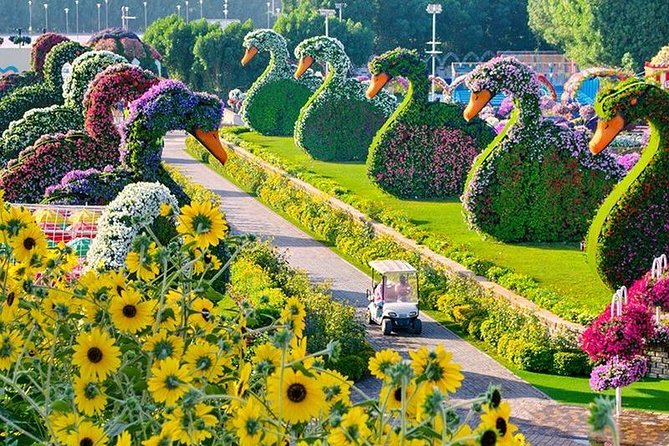 Global Village & Miracle Garden with round trip private transfers