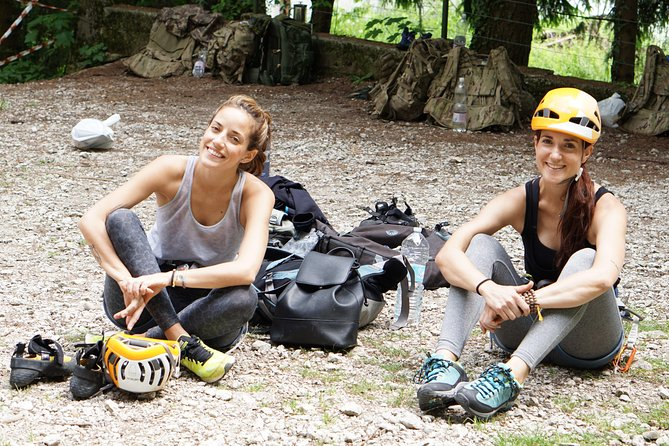 Resting Before doing Rock Climbing near Lake Bled