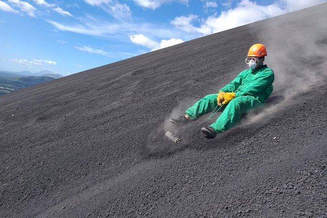 Volcano Boarding in first class
