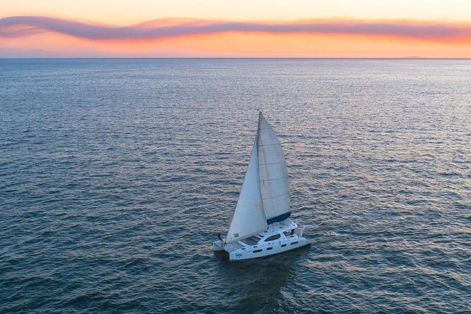 Luxury Sailboat at Sunset