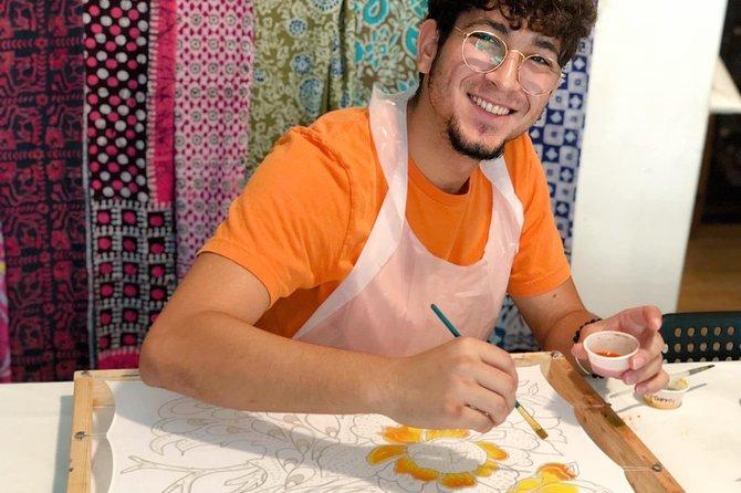 Make and paint a Malaysian batik scarf