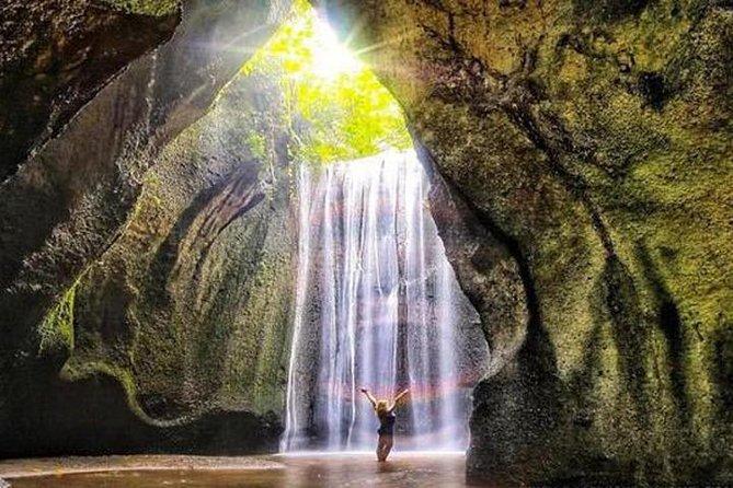 Tukad cepung waterfall - Batur volcano, Tirta Empul, Tegalalang Rice Terrace