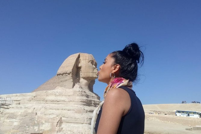 tour Guided Half-Day Trip to Giza Pyramids sphinx with Camel-Riding