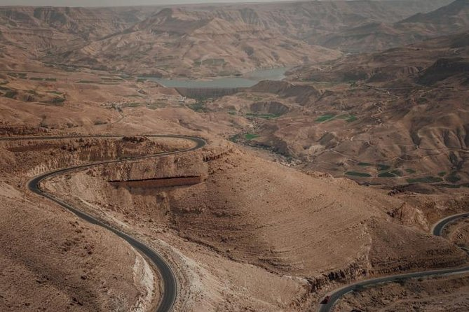 Via Kings Way to Petra, from Airport or Amman or Dead Sea or Madaba or K.H.B