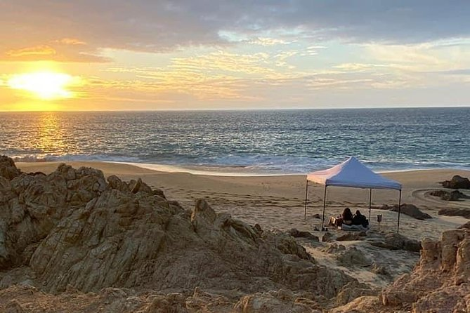 Private sunset dinner on the beach. Dedicated chef and staff.