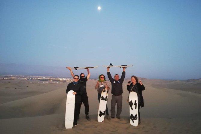 Full Day Tour Ballestas Islands and Huacachina Oasis in Ica, walk through the desert.