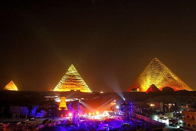 3-Hours Sunset Trip to Pyramids Sound & Light Show w Pickup