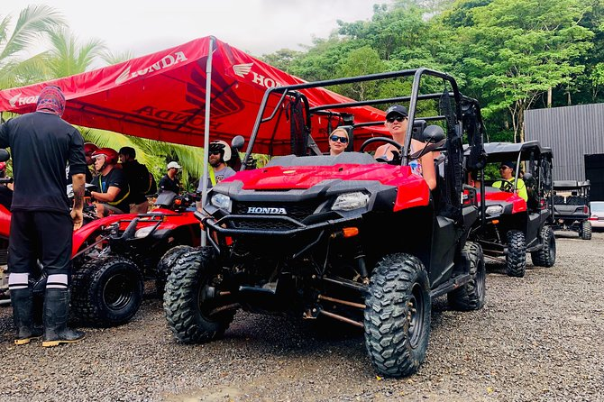 Zip line and ATVs to waterfalls combo tour at rain forest park