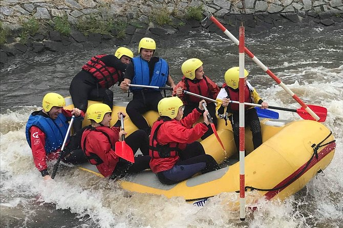 First white water experience with Tomáš Kobes