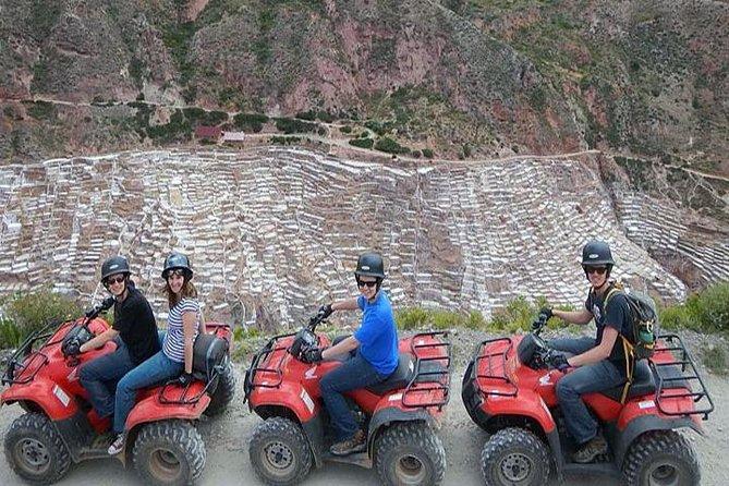 Maras + Laguna Huaypo and Piuray adventure tour in full day quad bike