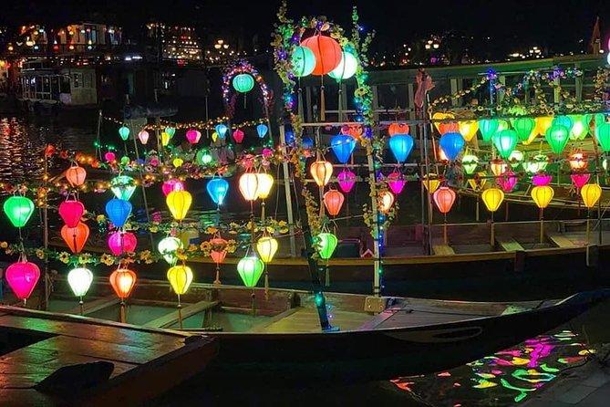 Walking Tour Hoi An city & Sampan Boat Ride with Colourful Lanterns,Night Market