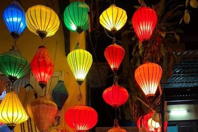 Marble Mountain & Hoi An walking Tour With Sampan Boat Ride & Night Market
