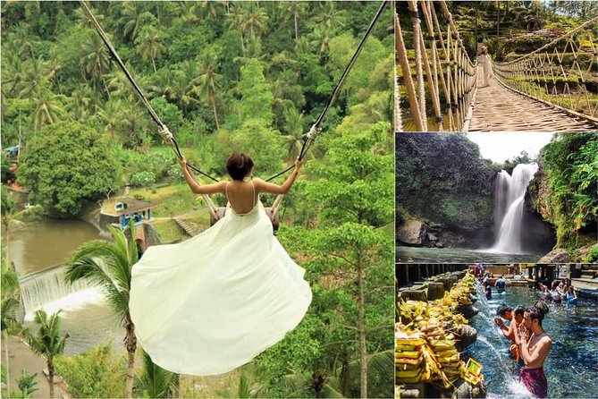 Ubud : Monkey Forest - Jungle Swing - Rice Terrace - Water Temple and Waterfall