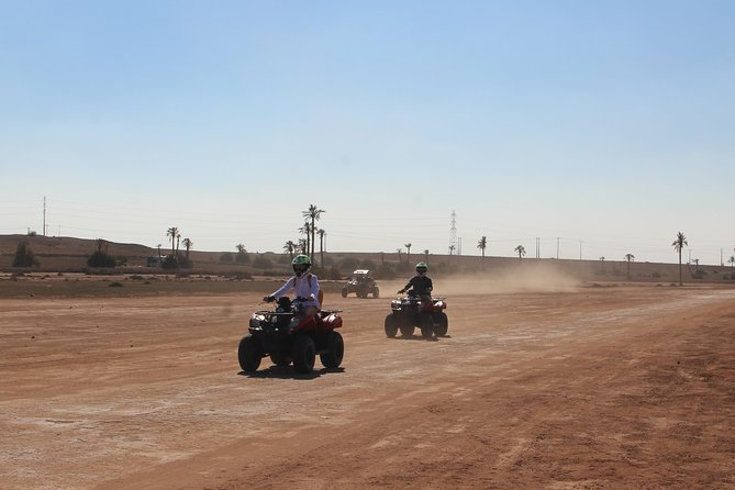 ½ day Quad Palmeraie and desert in Marrakech
