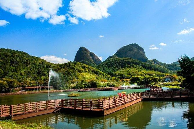 Mt.Mai with beautiful flowers and Jeonju Hanok village