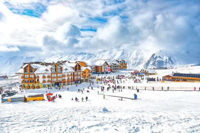 Winterly Day Tour to Mount Kazbeg & Gudauri with Lunch at Rooms from Tbilisi