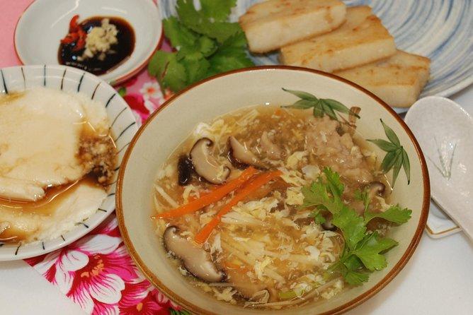 Taiwan Traditional Light Meals Experience -B-, Turnip cake, Pork thick soup, Tofu pudding.