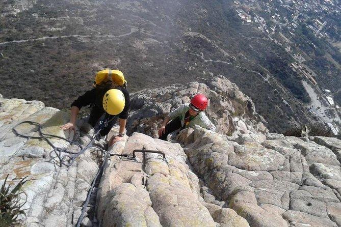 Climbing and Rappelling Tour at Peña de Bernal from Queretaro
