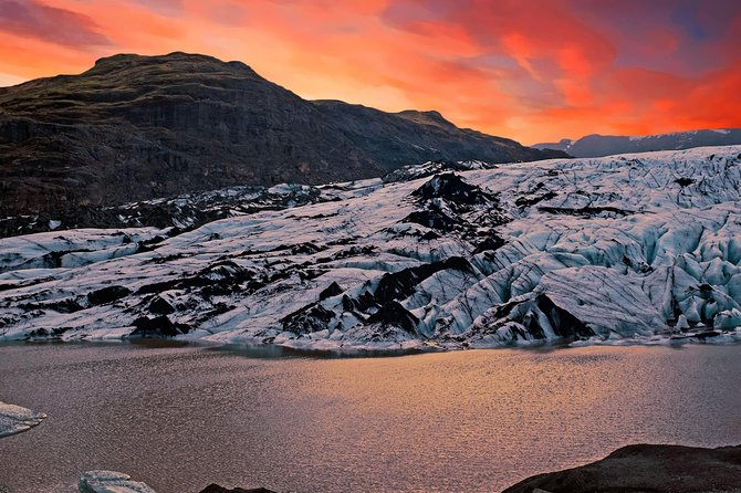 South Coast: Small group glacier hike, fire & ice with dinner at Viking lodge