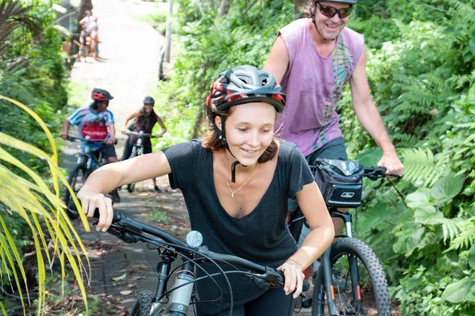 Bali Secret Cycling Tour Above Ubud, Jungle-Swing, Waterfall and Temple