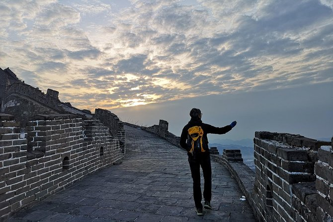 Hiking adventure on ancient remnant Great wall
