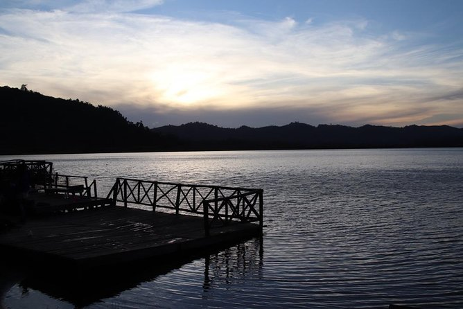 Sunrise or Sunset Canoeing at Lake Mutanda