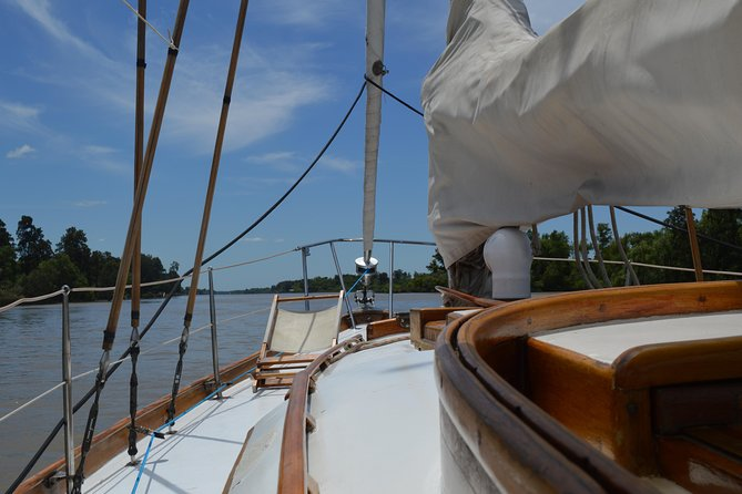 Sailing in Classic Sailboat with menu on board