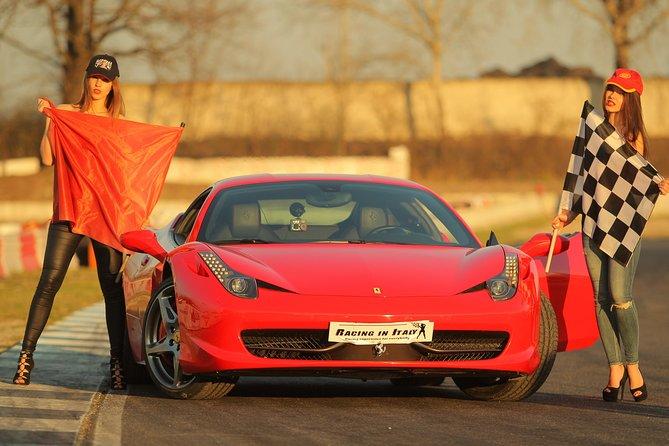 Prova di guida su pista con Ferrari 458