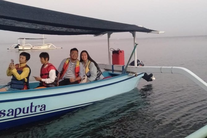 morning Dolphin trip with outgriger boat,waterfall in Bali, lakeside temple