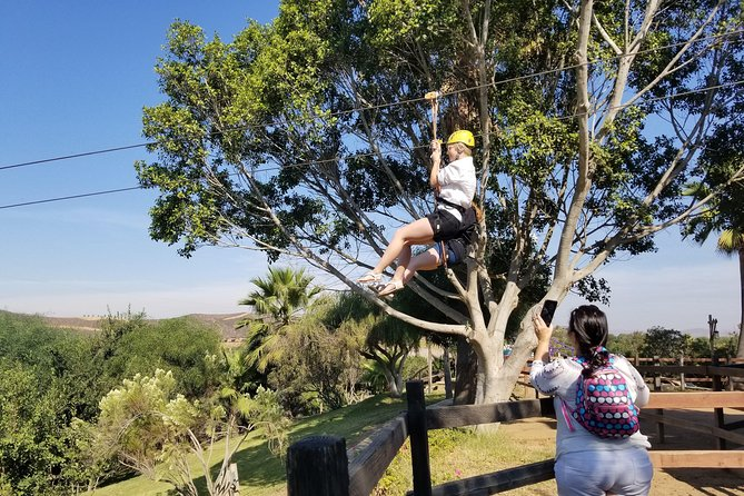 Extreme fun! Las Canadas Canopy Tour (Zip Line) and Paipai Ecotourism Park.