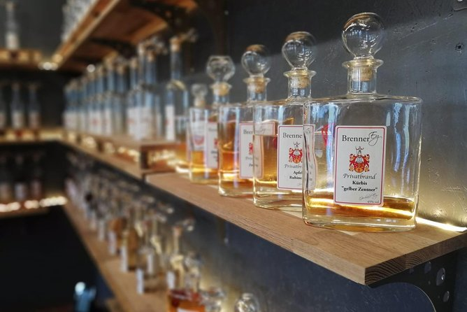 Distillery tour including samples and food