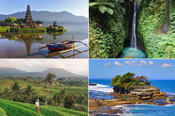 West Bali Tour: Taman Ayun, Ulun Danu Beratan, Jatiluwih Rice Terrace, Tanah Lot