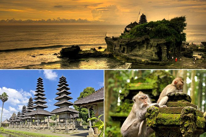 Taman Ayun - Royal Family Temple, Alas Kedaton Monkey Forest, Tanah Lot Sunset