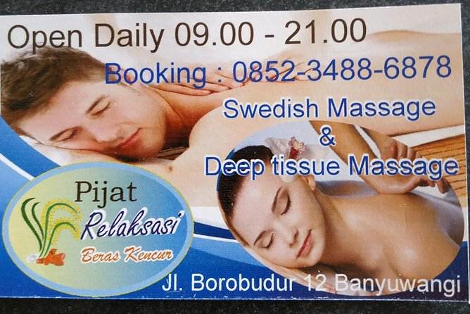 Sensation Relaxation massage kencur rice that makes the body fit and healthy