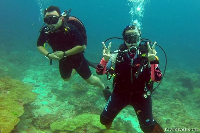 PADI Open water scuba certifiication course with beach dives