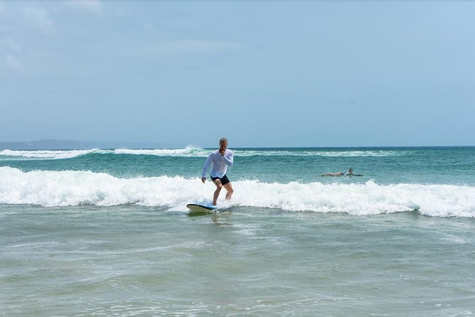 Surf Lesson, eMtn Bike, local brewery = one epic day tour