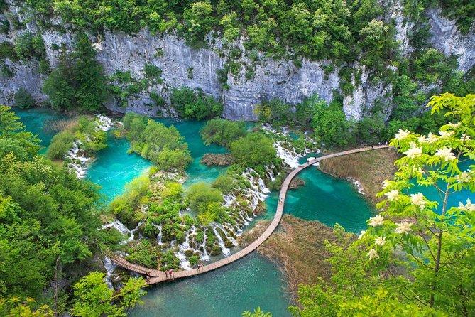Excursão privada: viagem de um dia ao Parque Nacional Plitvice Lakes saindo de Dubrovnik