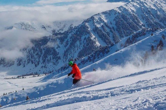 Winter tour in Kyrgyzstan. Skiing in Karakol.