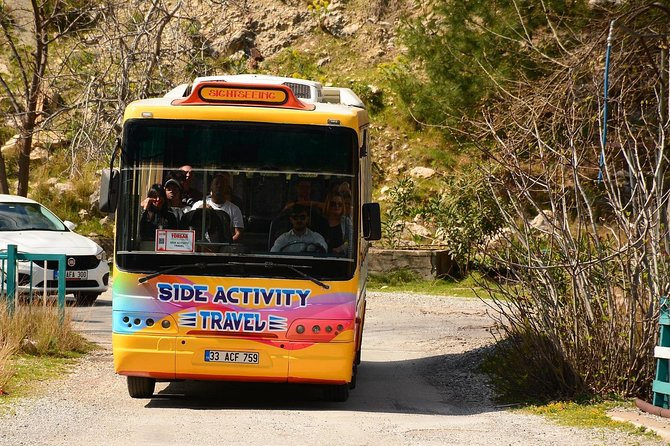 Cabrio Bus Safari at the Taurus Mountains from Side