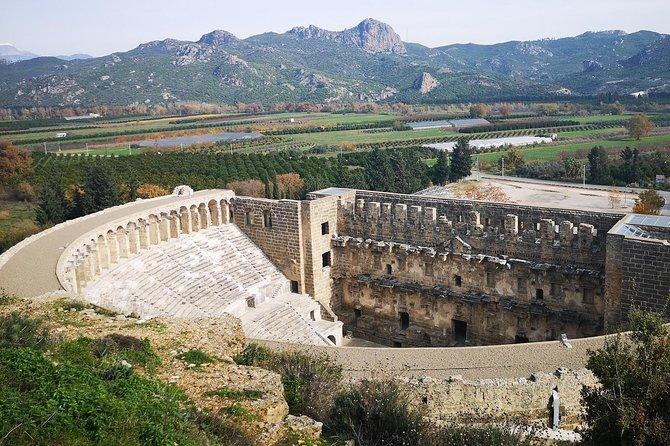 Day Trip to Manavgat Waterfall, Aspendos & Side from Alanya Area Hotels