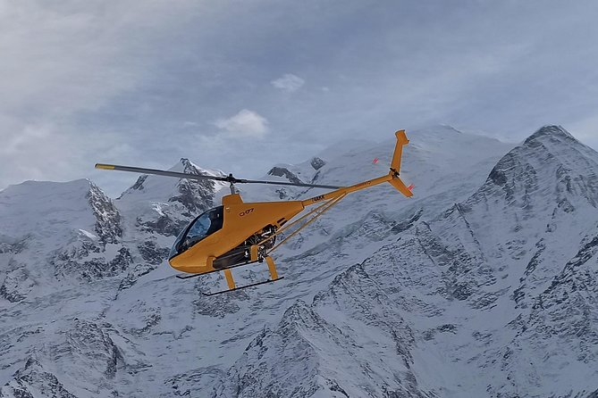 Grande passeio de helicóptero sobre Chamonix